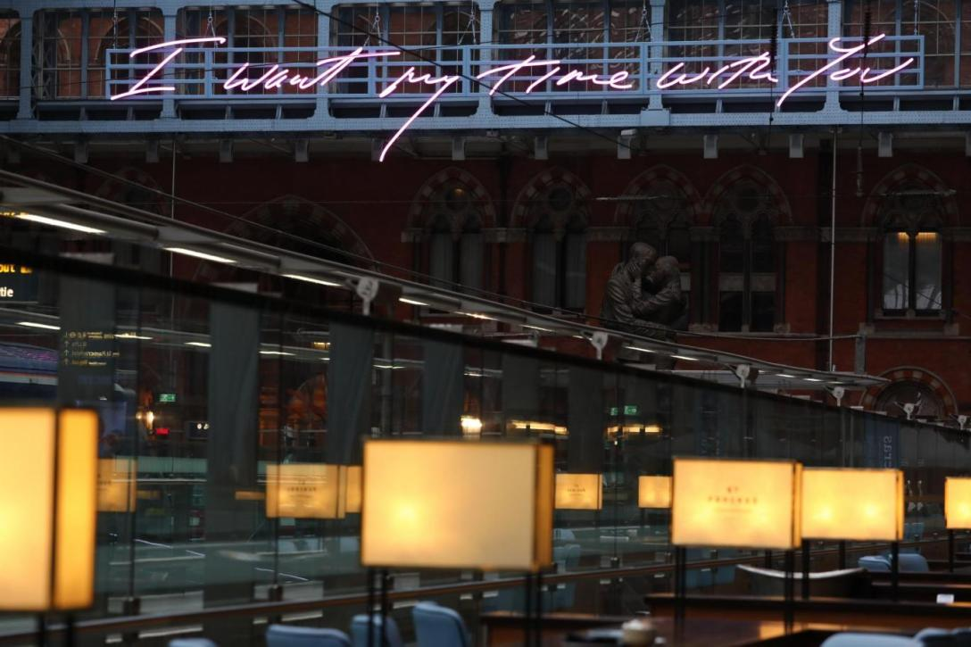 Neon sign by Tracey Emin