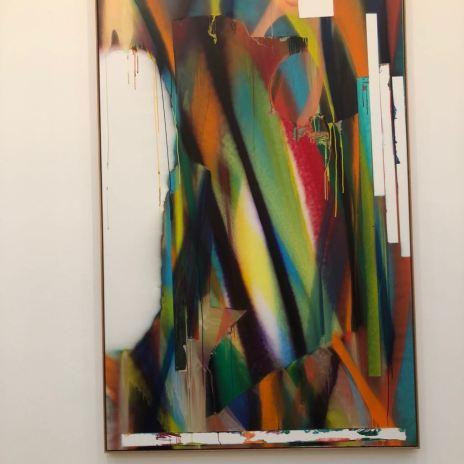 Dana Sheves - Katharina Grosse exhibition (1)