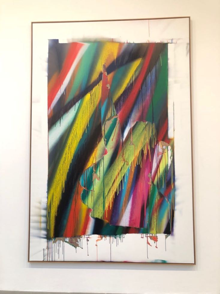 Dana Sheves - Katharina Grosse exhibition (3)